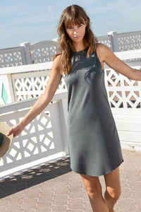 High Neck Tank Dress in Mineral