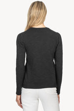 Load image into Gallery viewer, Puff Sleeve Slub Tee in Black