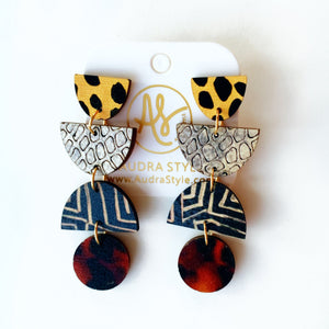 Jocelyn Earring in Snakeskin Dot