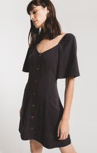 Alassio Flutter Sleeve Dress