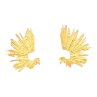 Spike Earring in Gold Plated Brass