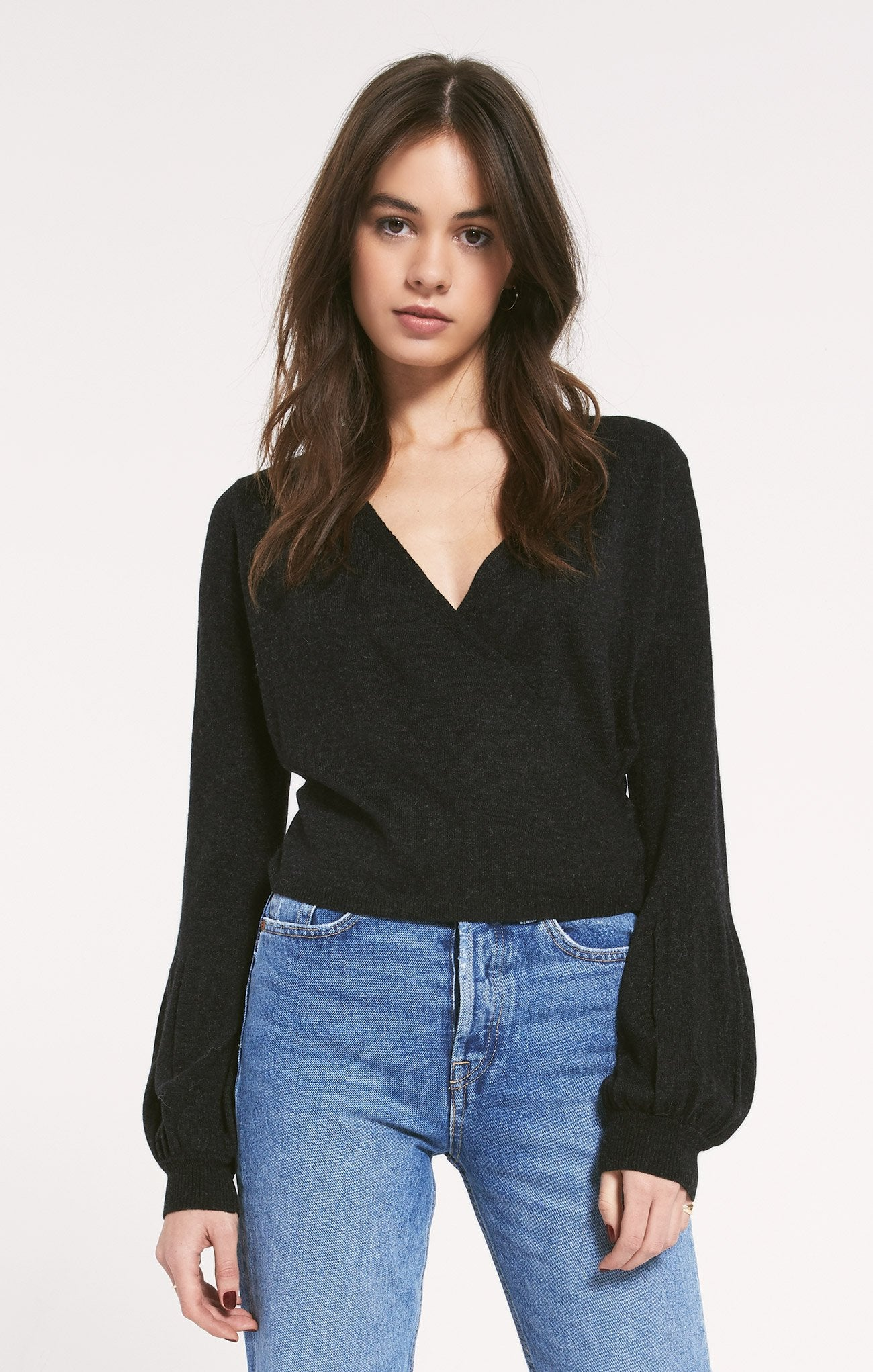 Bricklane Sweater in Heathered Black