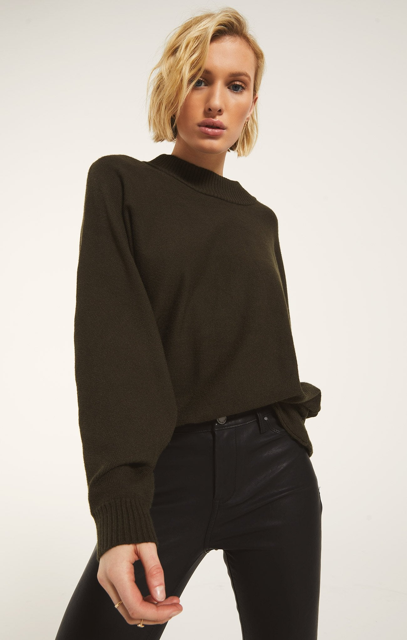 Innsbruck Sweater in Deep Olive