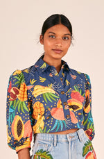 Load image into Gallery viewer, Fruit Forest Western Crop Shirt