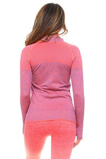 Load image into Gallery viewer, Seamless Marled Jacket in Coral