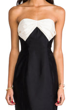 Load image into Gallery viewer, Stella Dress in Black/Ivory