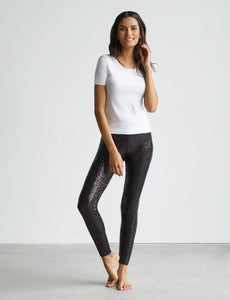 Sequin Legging with Perfect Control in Black