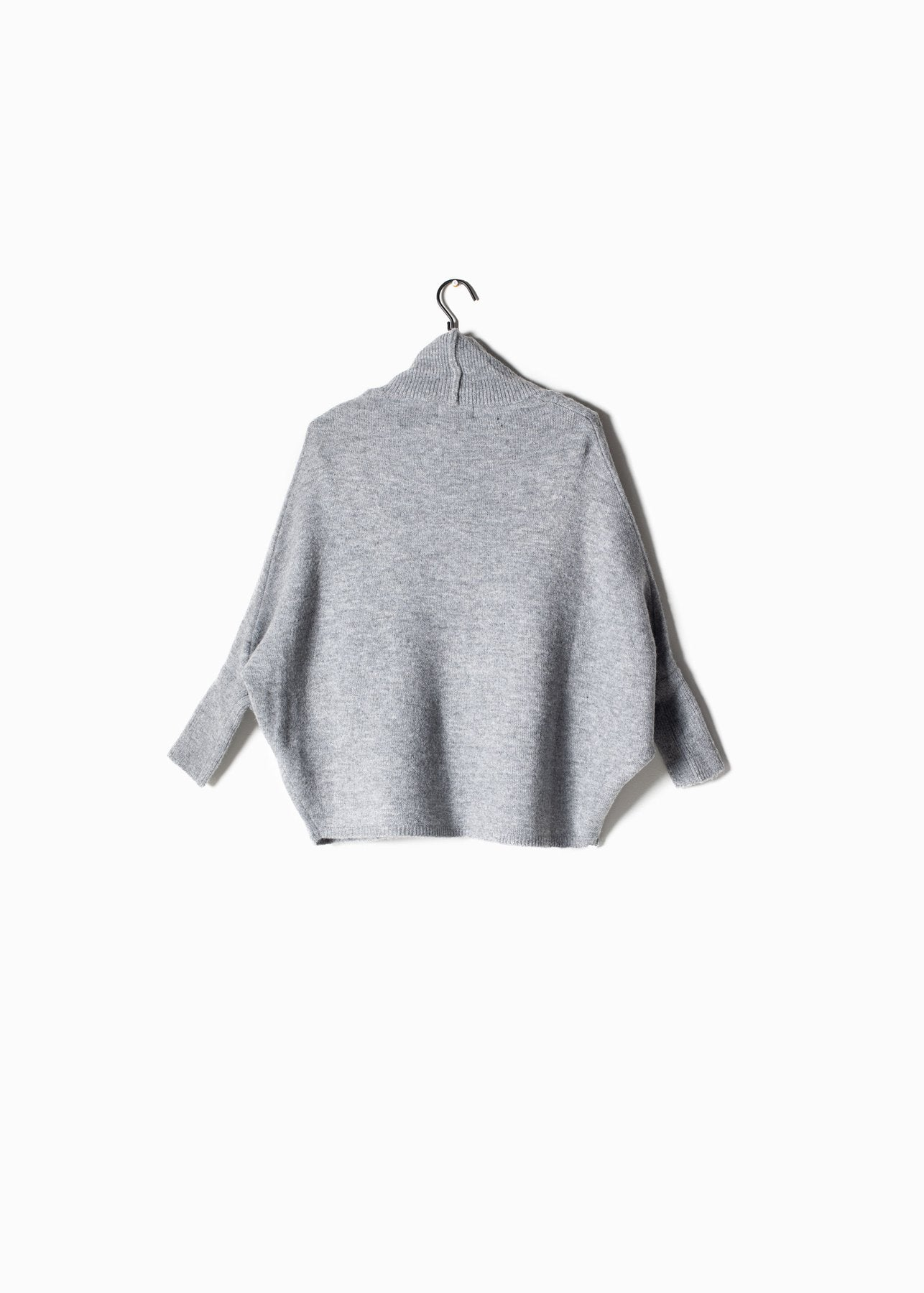 Cable Cape Cardigan in Light Grey
