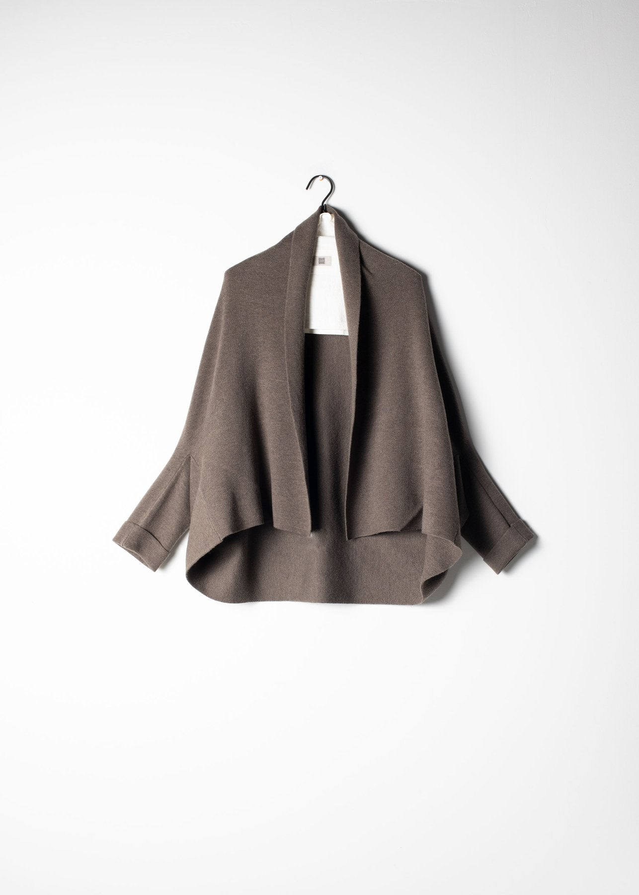 Reversible Cape Cardigan in Ash