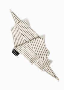 Stripe Reversible Shawl Scarf in Black/Ivory