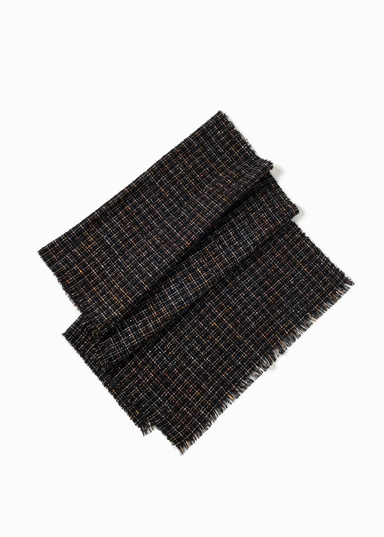 Metallic Confetti Tweed Scarf in Black