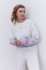 Load image into Gallery viewer, Shiloh Sweatshirt in Lilac DipDye