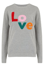 Load image into Gallery viewer, Noah Colorful Love Sweatshirt in Grey Marl