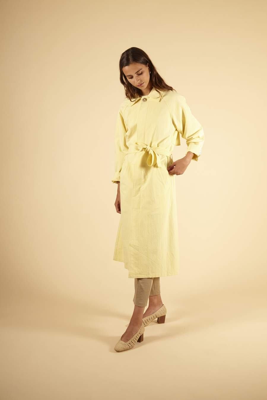 Sanne Trench Coat in Lemonade