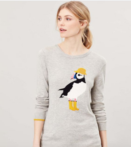 Puffin in Rain Boots Sweater