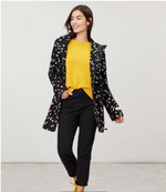 Load image into Gallery viewer, Coast Mid Print Rain Jacket in Black Daisy