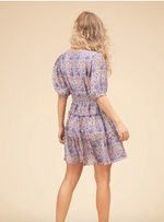 Load image into Gallery viewer, Felicitous Boho Mini Dress In Purple