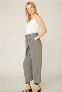 High Waist Wide Leg Pant in Surplus Green