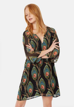 Load image into Gallery viewer, Moments Feather Print Mini Dress