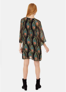 Moments Feather Print Mini Dress