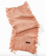 Load image into Gallery viewer, Cashmere Blend Fringe Scarf in Blush