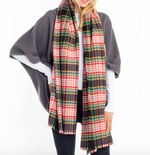Load image into Gallery viewer, Vivid Plaid Scarf in Black