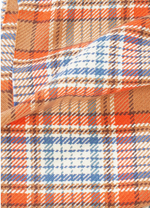 Load image into Gallery viewer, Vivid Plaid Scarf in Camel