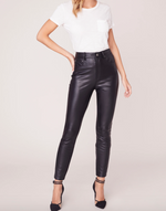 Load image into Gallery viewer, Morrison Vegan Leather Skinny Pant in Black