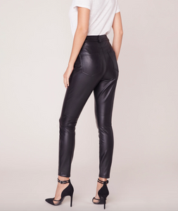 Morrison Vegan Leather Skinny Pant in Black