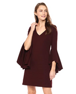 Load image into Gallery viewer, Avalanche Bell Sleeve Dress in Port
