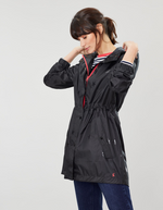 Load image into Gallery viewer, Golightly Rain Jacket in Black Gloss Star