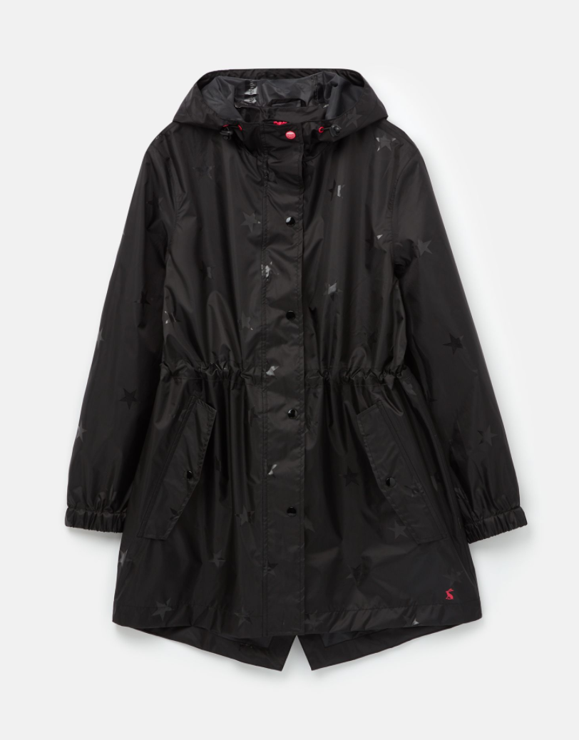 Golightly Rain Jacket in Black Gloss Star
