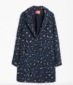 Load image into Gallery viewer, Alberta Coat in Blue Leopard