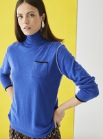 Load image into Gallery viewer, Nina Turtleneck Sweater in Blue
