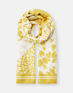 River Scarf in Gold Animal