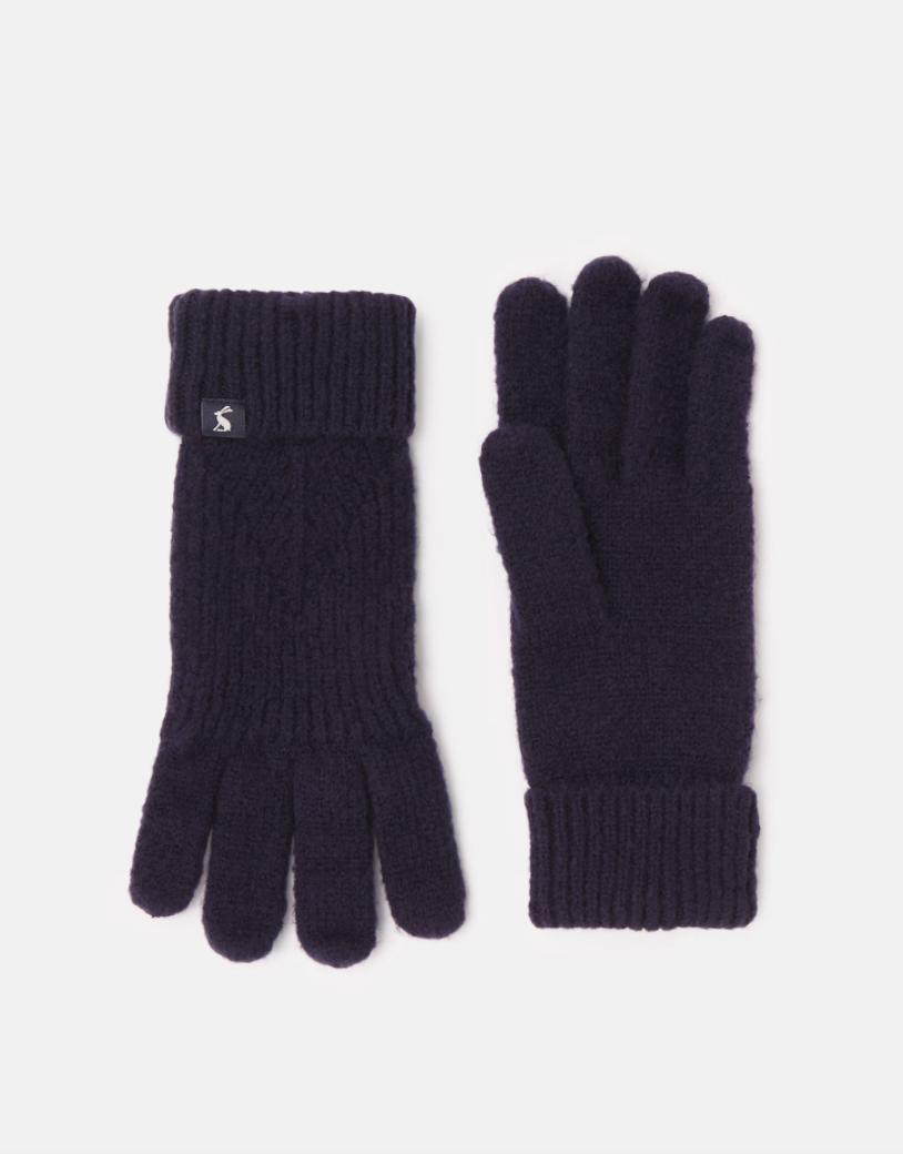 Thurley Knit Gloves in Navy
