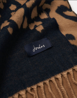 Load image into Gallery viewer, Elissa Scarf in Navy Leopard