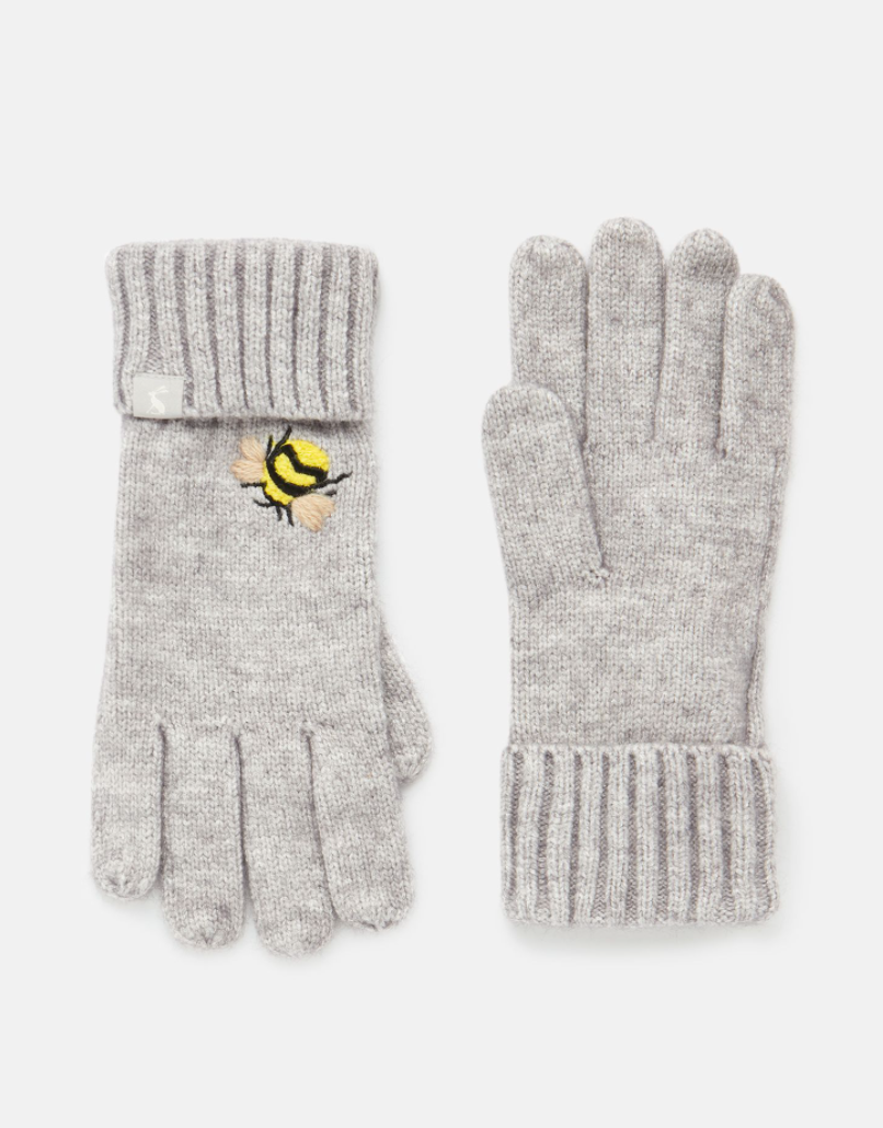 Stafford Gloves in Grey Bee
