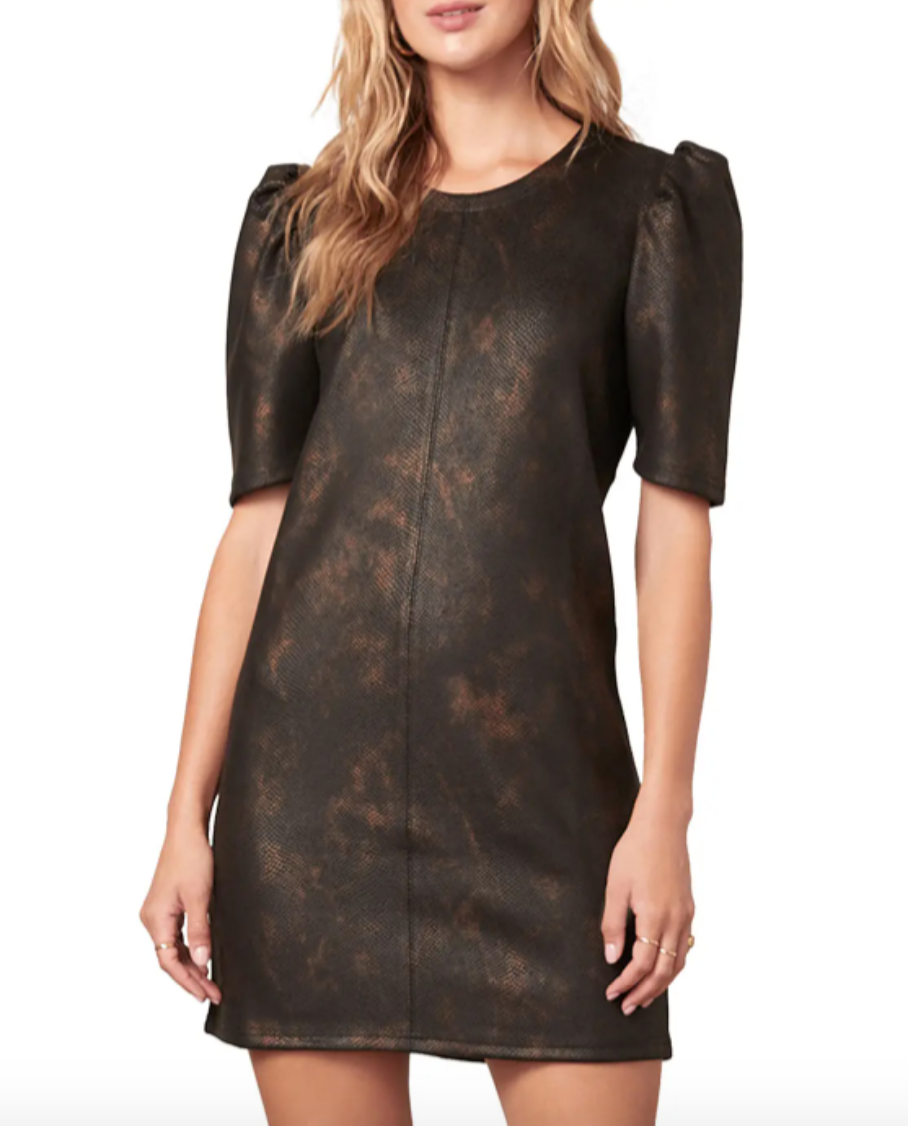 Trixie Dress in Faux Leather
