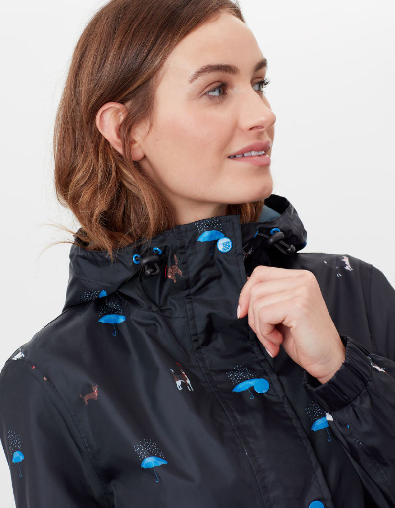 Golightly Printed Rain Jacket in Raining Cats and Dogs