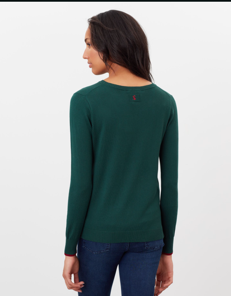 Miranda Sweater in Green Fox