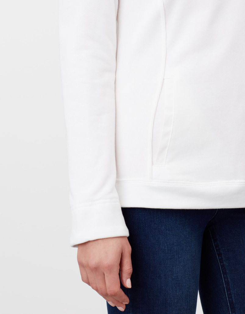 Funnel Neck Sweatshirt in Cream