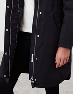 Load image into Gallery viewer, Loxley Cosy Padded Raincoat in Black