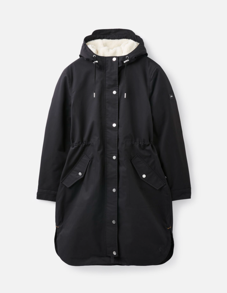 Loxley Cosy Padded Raincoat in Black