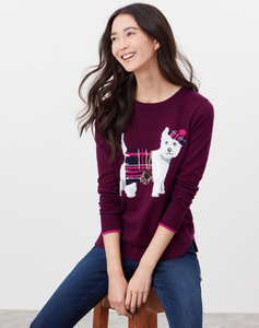 Miranda Sweater in Westie Purple