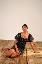 Load image into Gallery viewer, Tiny Fruits Smocked Mini Dress