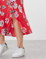 Load image into Gallery viewer, Carlene Bias Cut Skirt in Red Floral