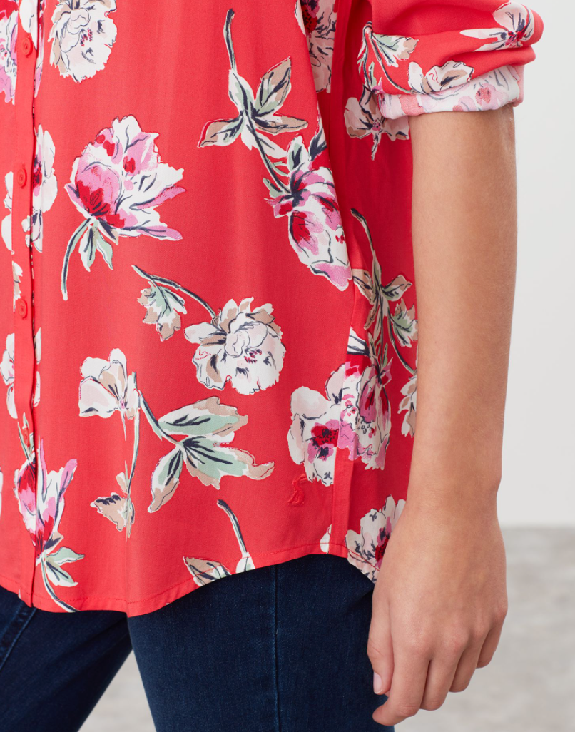 Elvina Shirt in Red Floral