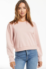 Load image into Gallery viewer, Alina Puff Sleeve Crew in Pink Blossom