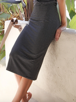 Load image into Gallery viewer, Midi Skirt in Black Stripe